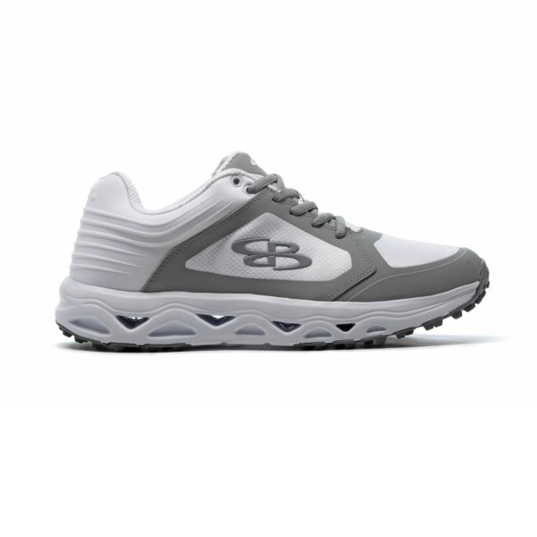 Men's Ballistic Low Turf Shoe White/Gray