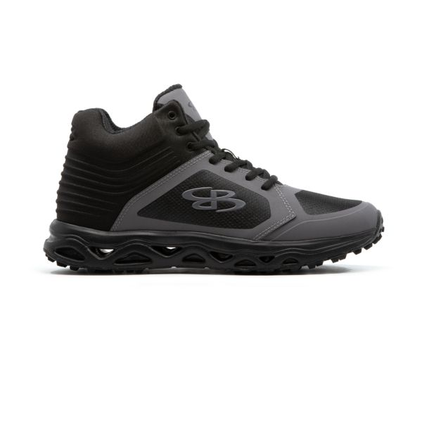 Men's Ballistic Mid Turf Shoe Black/Shadow Gray