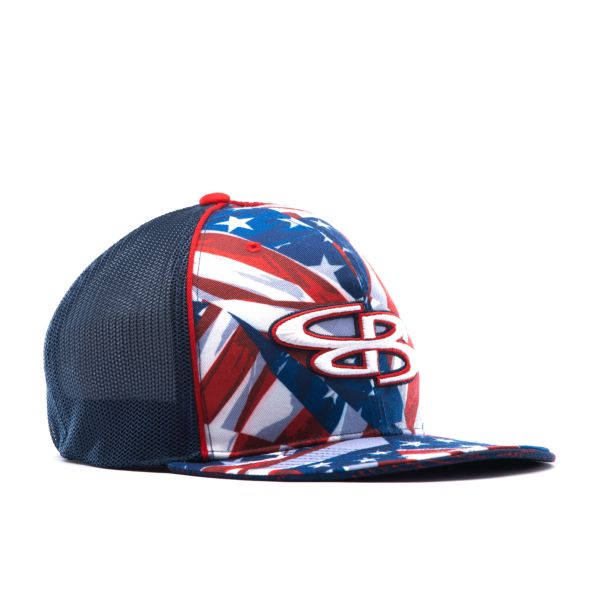 Elite Series Mesh Back Hat Navy/Red/White