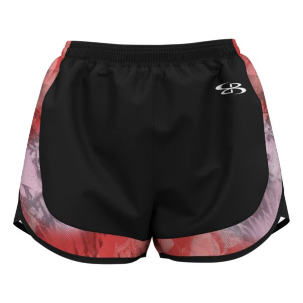 Women's Marble Aspire Short Black/Hot Coral/Soft Pink
