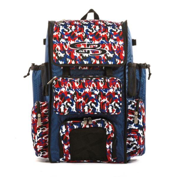 Superpack Bat Bag 2.0 Woodland Camo Royal/Red