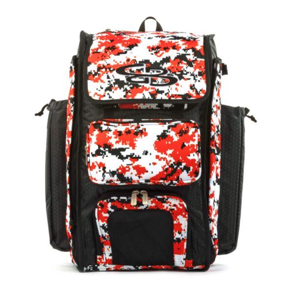 Catcher's Superpack Bat Bag Digital Camo Black/Orange