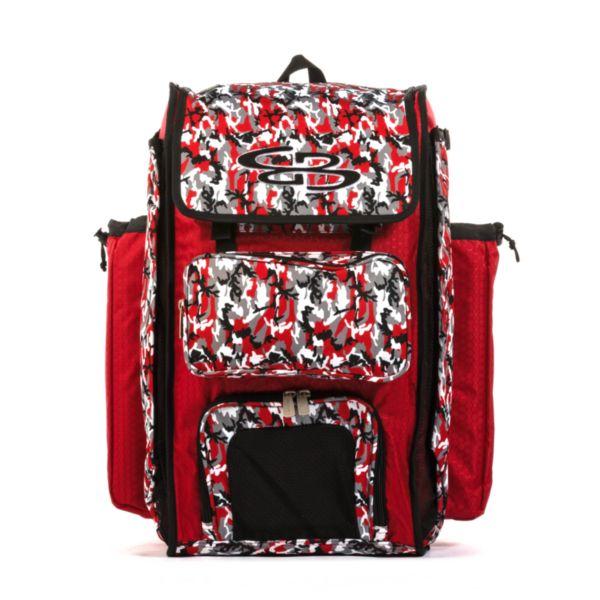 Catcher's Superpack Bat Bag Woodland Camo Red/Black