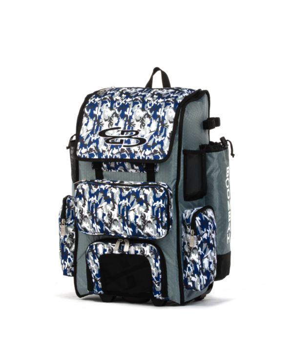 Superpack Woodland Camo Rolling Bat Bag 2.0