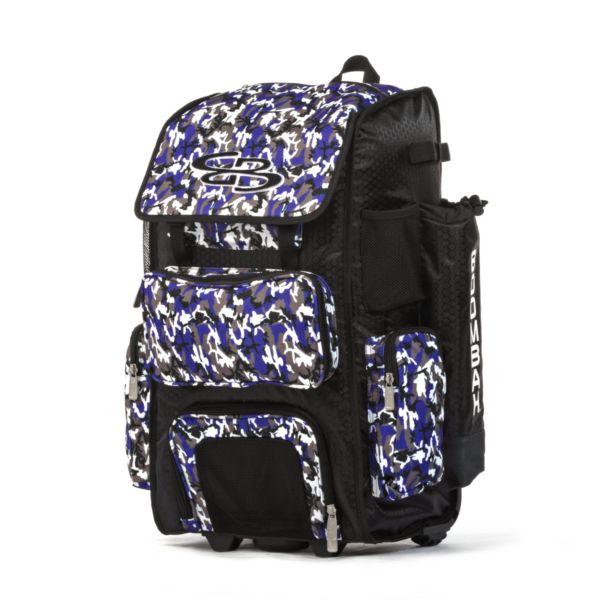 Rolling Superpack Hybrid Woodland Camo Bat Pack Black/Purple