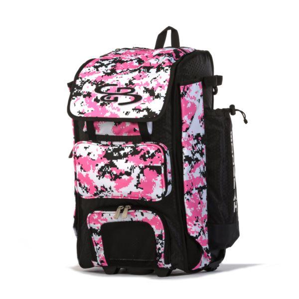 Catcher's Superpack Hybrid Digital Camo Bat Bag Black/Pink