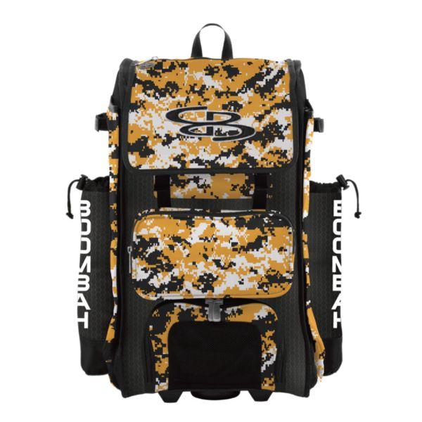 Rolling Catcher's Superpack Bat Bag Digital Camo Black/Gold