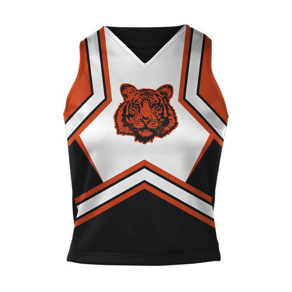Girls' Full Dye, Cheer V-Neck Shell (PS-2035W)