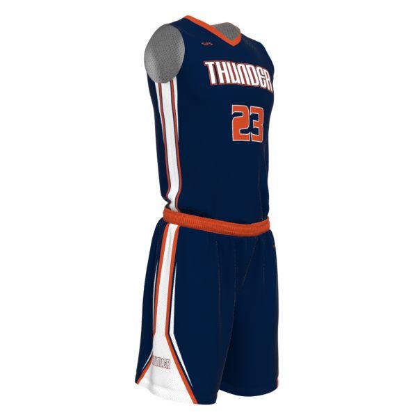 Custom Men's Full V-Neck Basketball Uniform