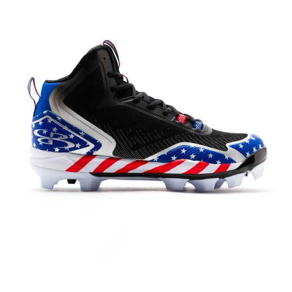 Men's Berzerk Stars & Stripes Molded Mid Cleats