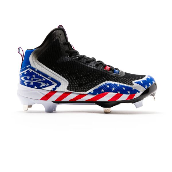 Men's Berzerk Mid Stars & Stripes Metal Cleats
