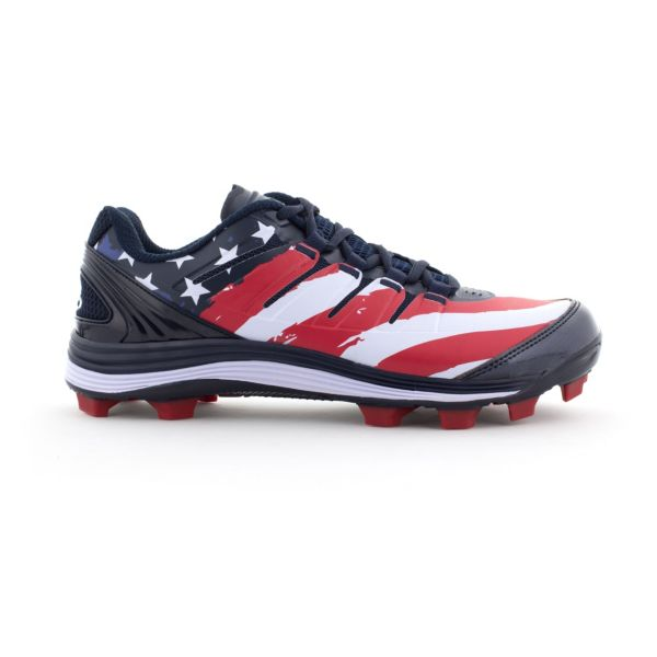 Men's Riot USA Flag 2.0 Molded Cleat