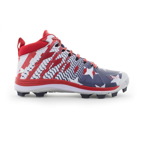 Men's Squadron USA Flag Molded Mid Cleats