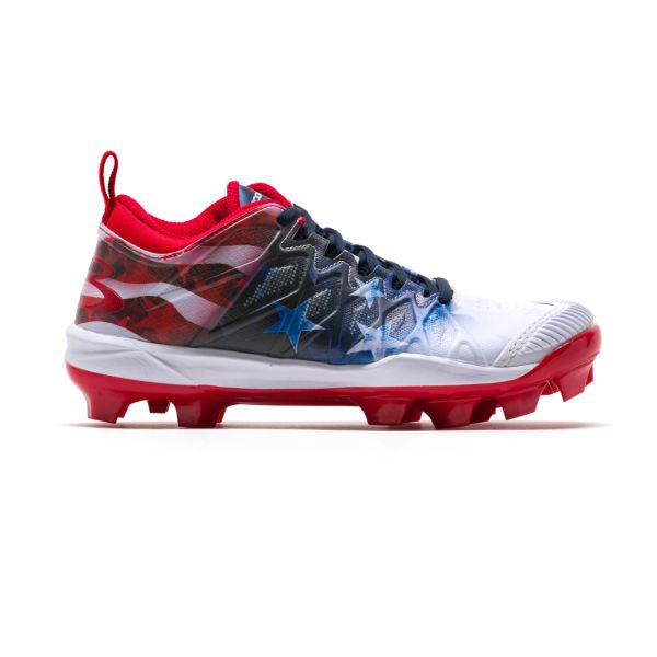 Women's Squadron Pitcher's Toe USA Flag Molded Cleats