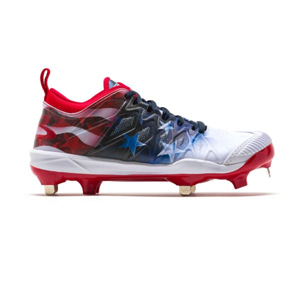 Women's Squadron Pitcher's Toe USA Flag Metal Cleats