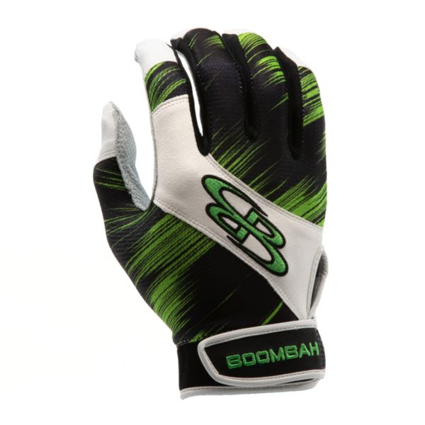 Adult Torva INK Batting Glove 3002 Scratch Black/Lime Green