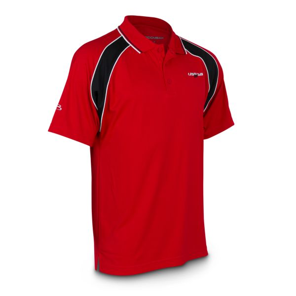 Men's USSSA Official's Polo Red/Black/White