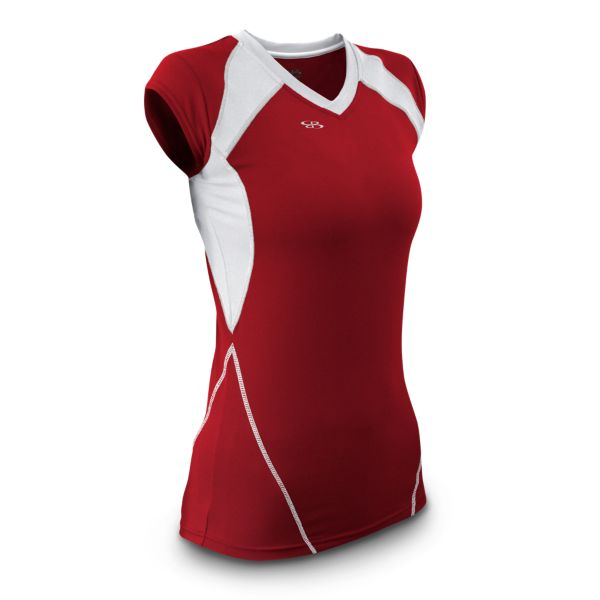 Women's Volleyball Ace Cap Sleeve Red / White
