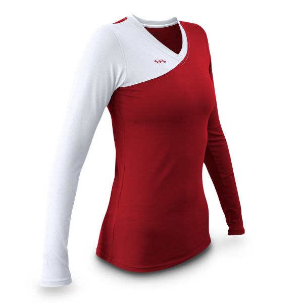 Women's Sideout Fitted Volleyball Jersey Long Sleeve