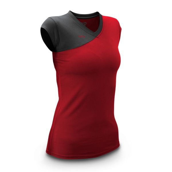 Women's Sideout Fitted Volleyball Jersey Cap Sleeve