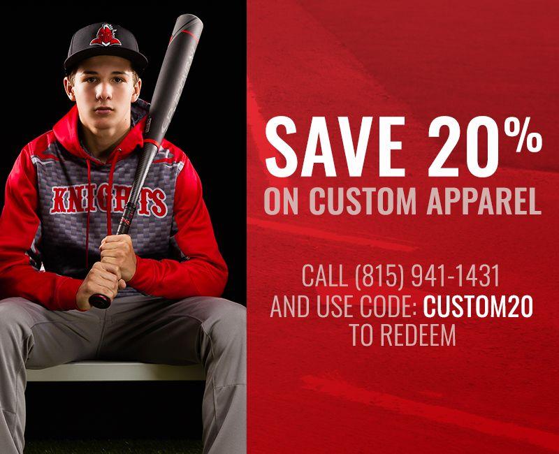 Save 20% on Custom Apparel