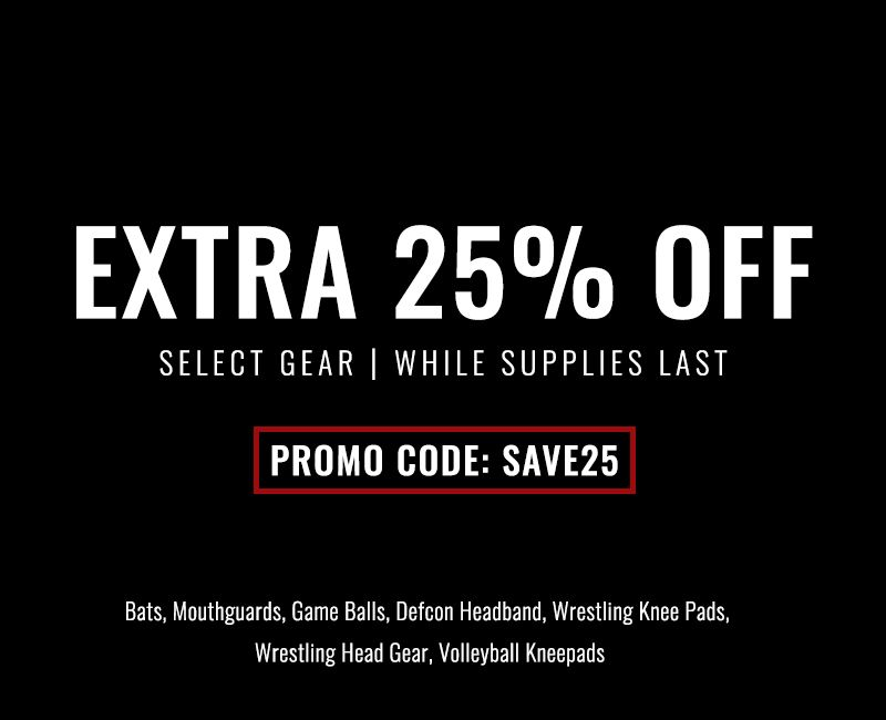 25 percent off select equiptment