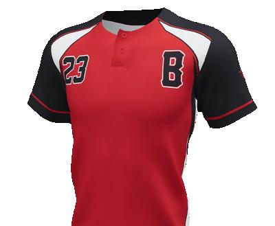 2-Button Short Sleeve Jersey