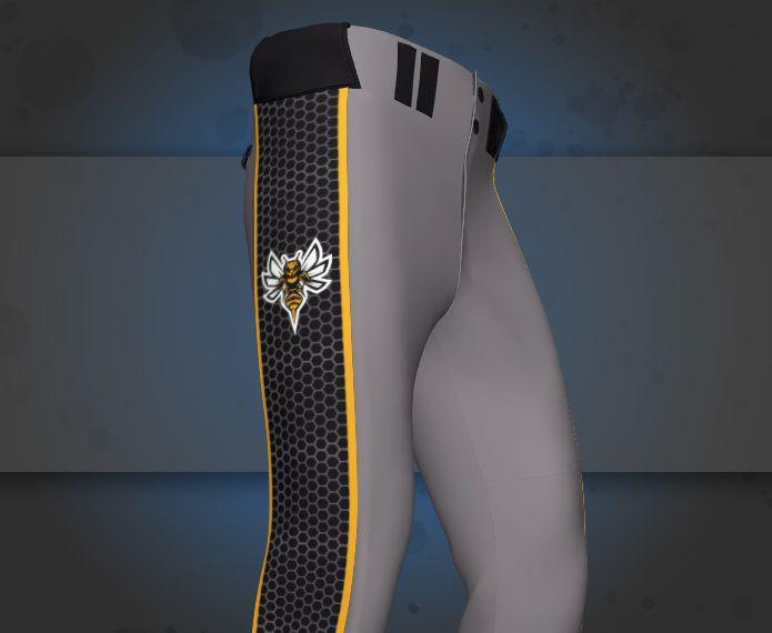 Custom Partial Dye Baseball Pants