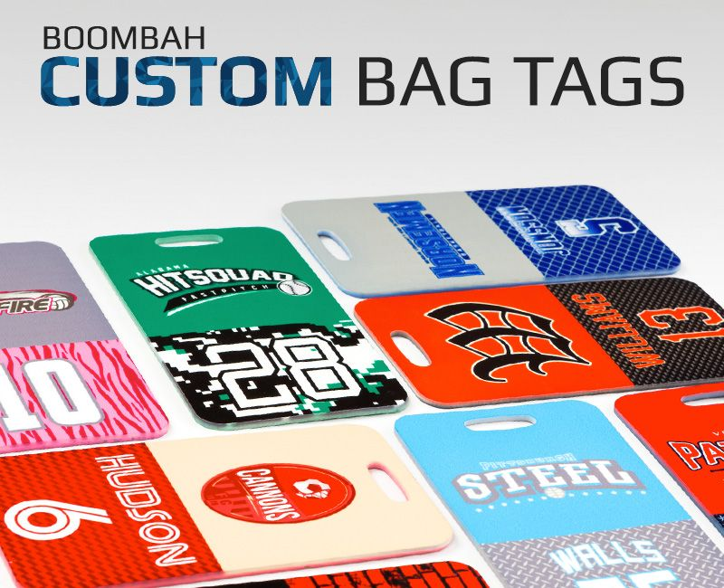 boombah custom ink bag tags
