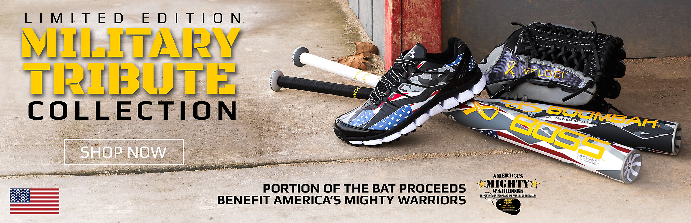 Military Tribute Boss Softball Bat