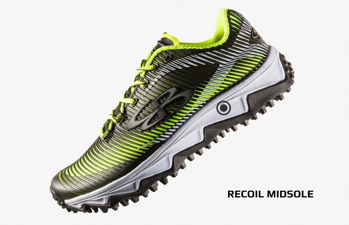 50f92bfb477 aftershock dps turf shoe midsole. Newly formulated recoil midsole foam  explodes with energy returning power and offers a soft