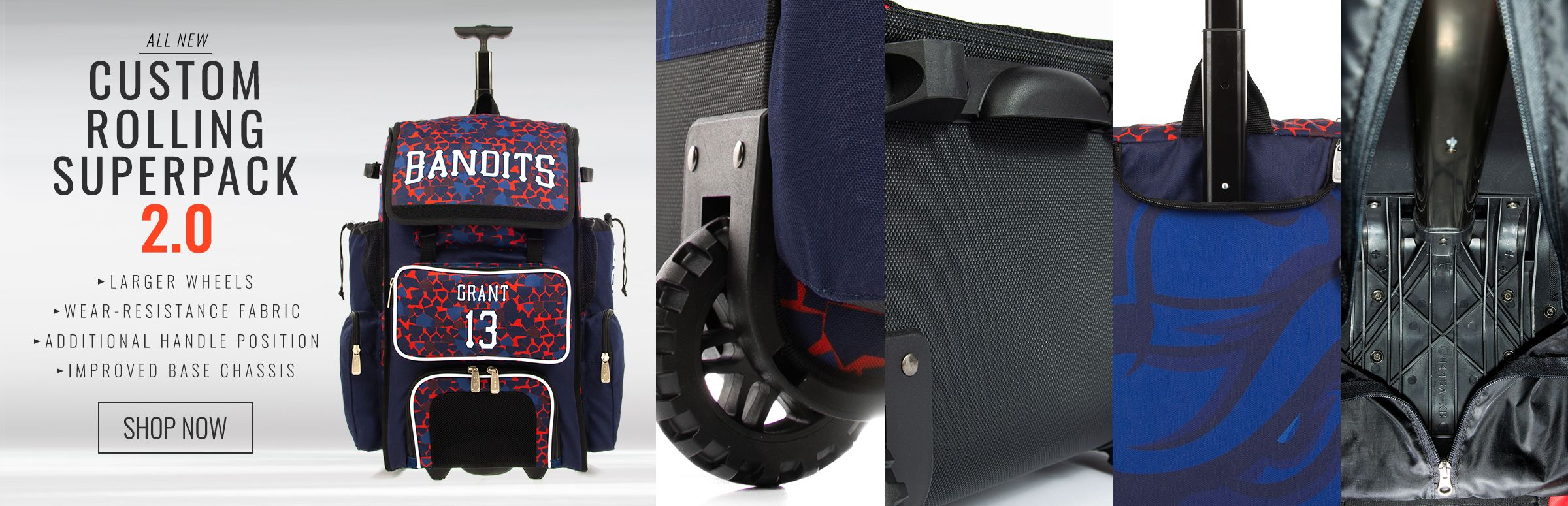 Custom Rolling Superpack 2.0 Bat Bag