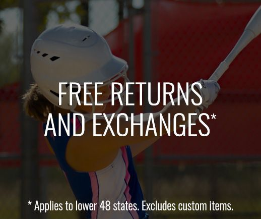 Free Returns and Exchanges. Applies to lower 48 states. Excludes custom items.