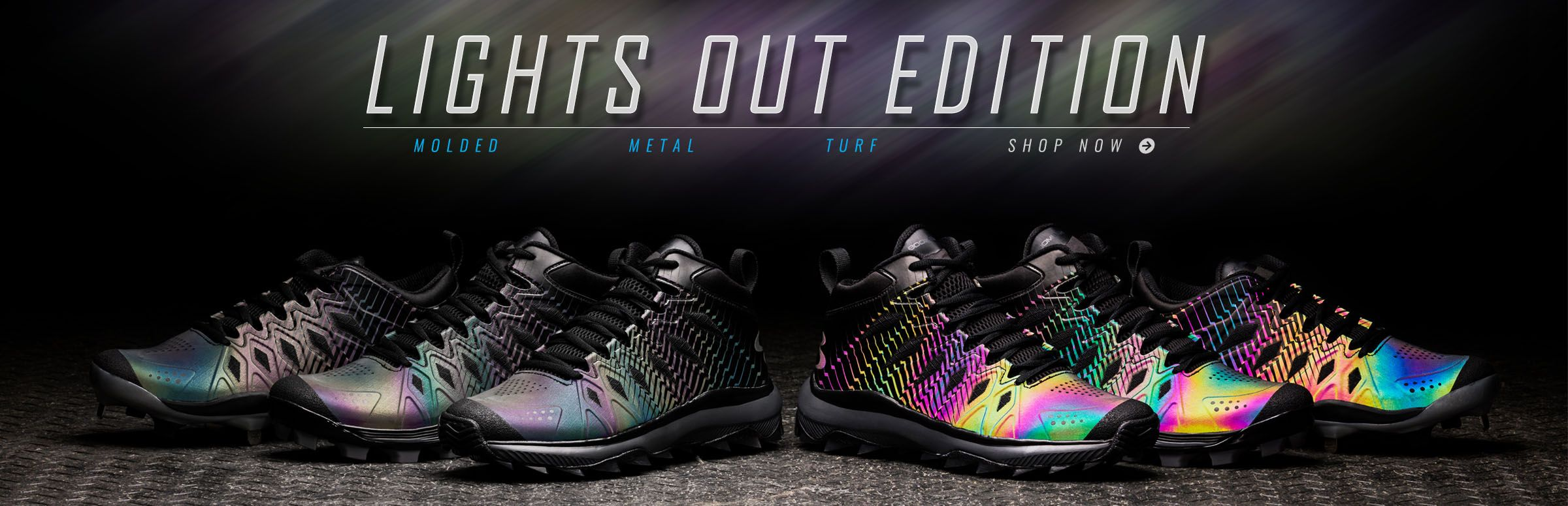 Boombah Lights Out Edition Footwear