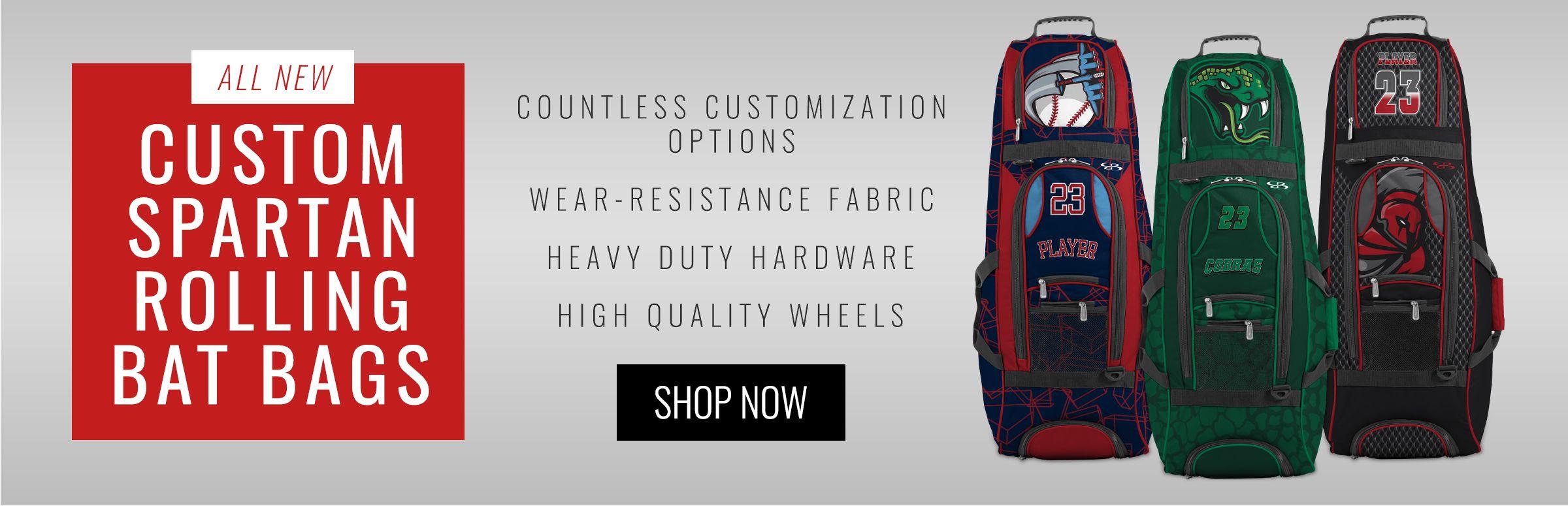 Custom Spartan Rolling Bat Bags