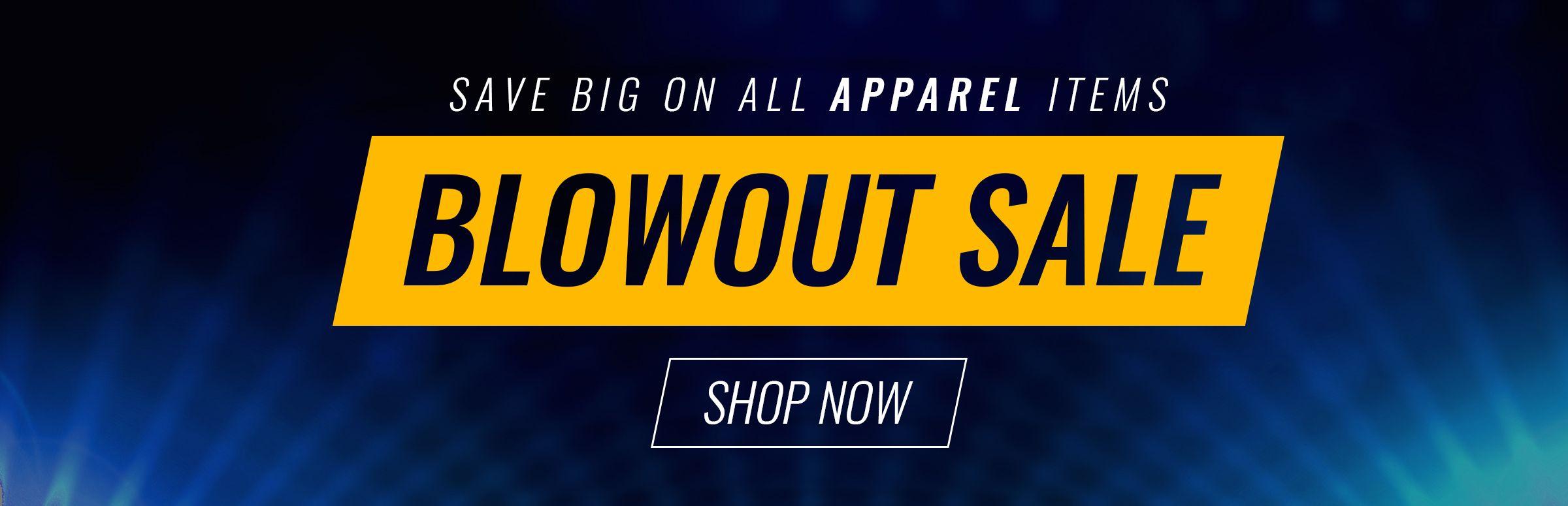Apparel Blowout Sale!