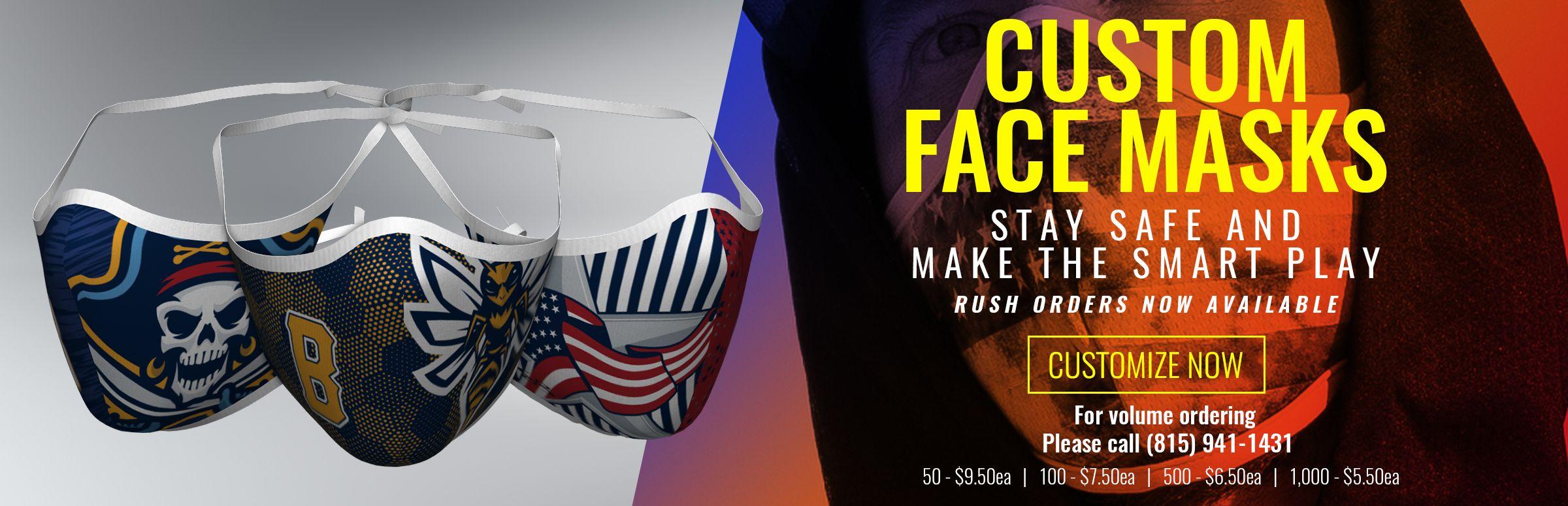 Custom Face Masks Now Available