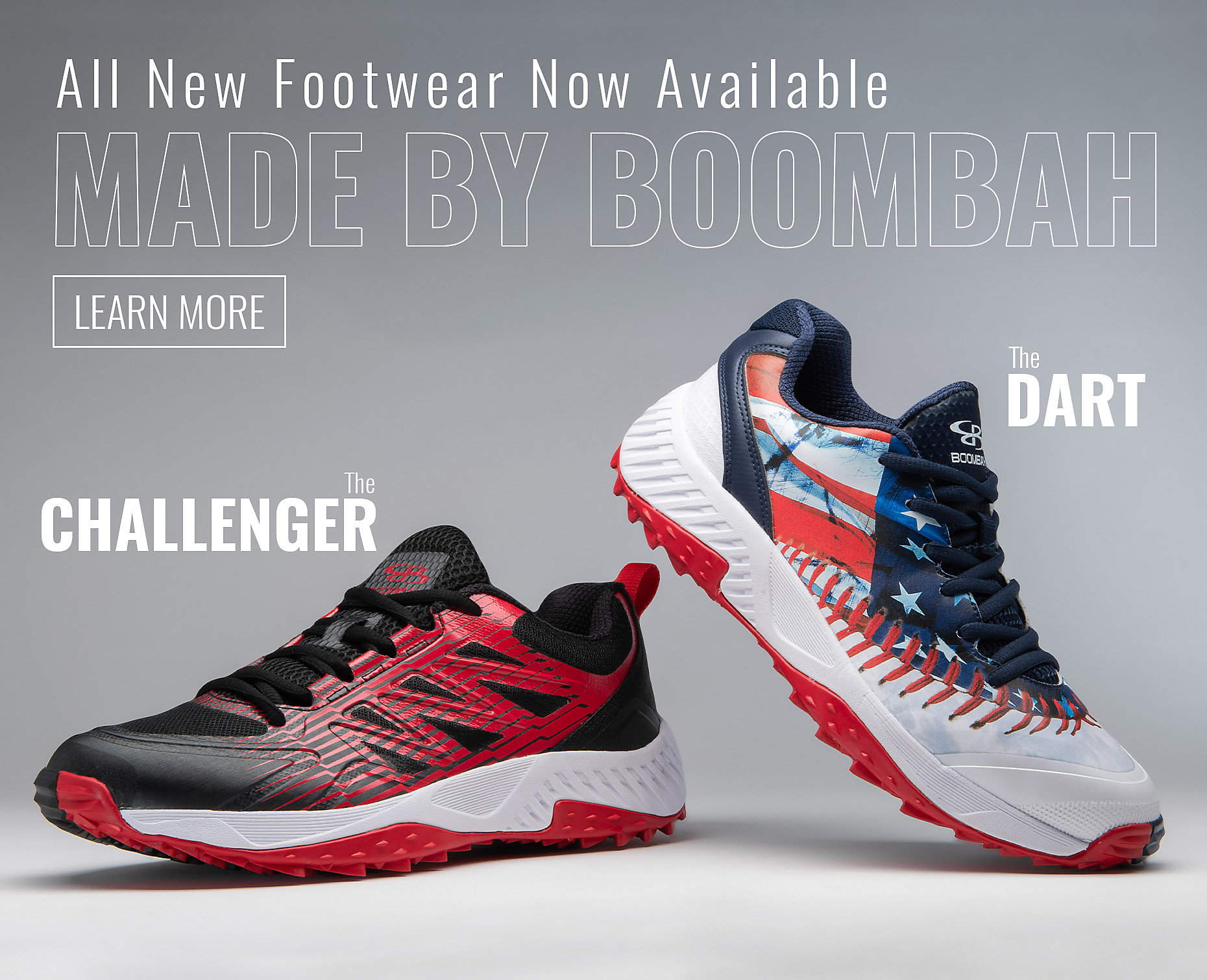 All New red Challenger Shoe hovering
