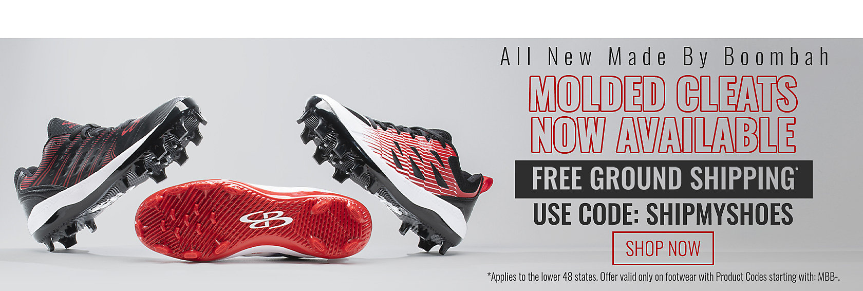 All New Molded Cleats Made By Boombah Free Ground Shipping