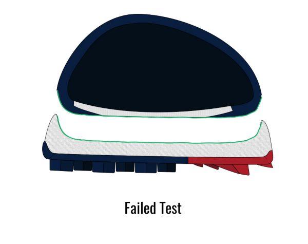 Tensile Strength - Failed Shoe