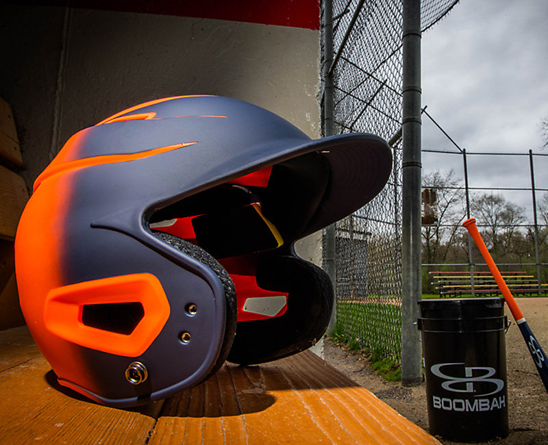 Orange Batting Helmets