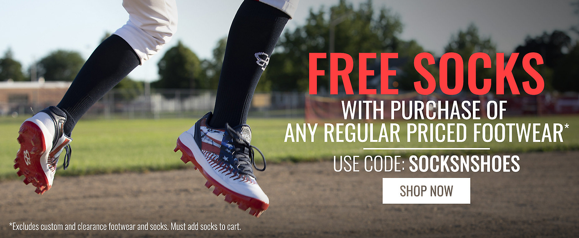 Free Socks with the purchase of any Regular Priced Footwear