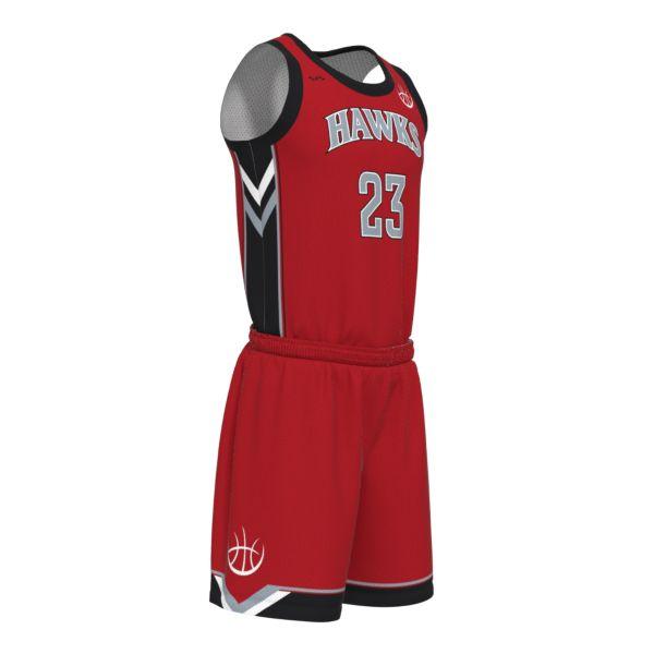Custom Men's Drop Crew Neck Full Basketball Uniform