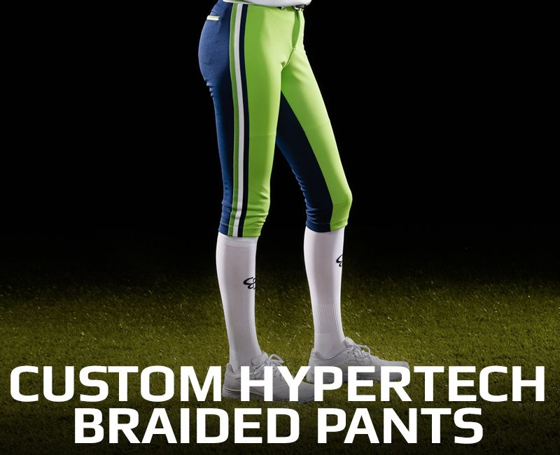 custom braided fastpitch pants