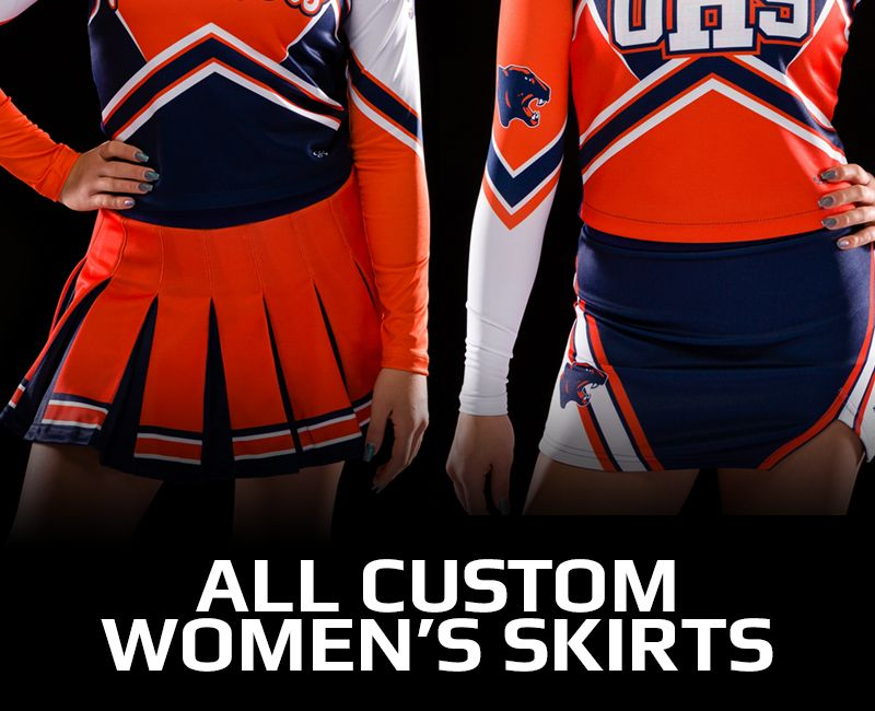 All Custom Women's Cheer Skirts