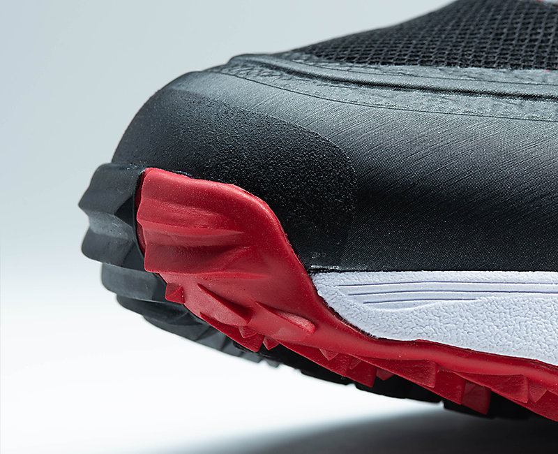 A close-up of the Challnger shoe's toe