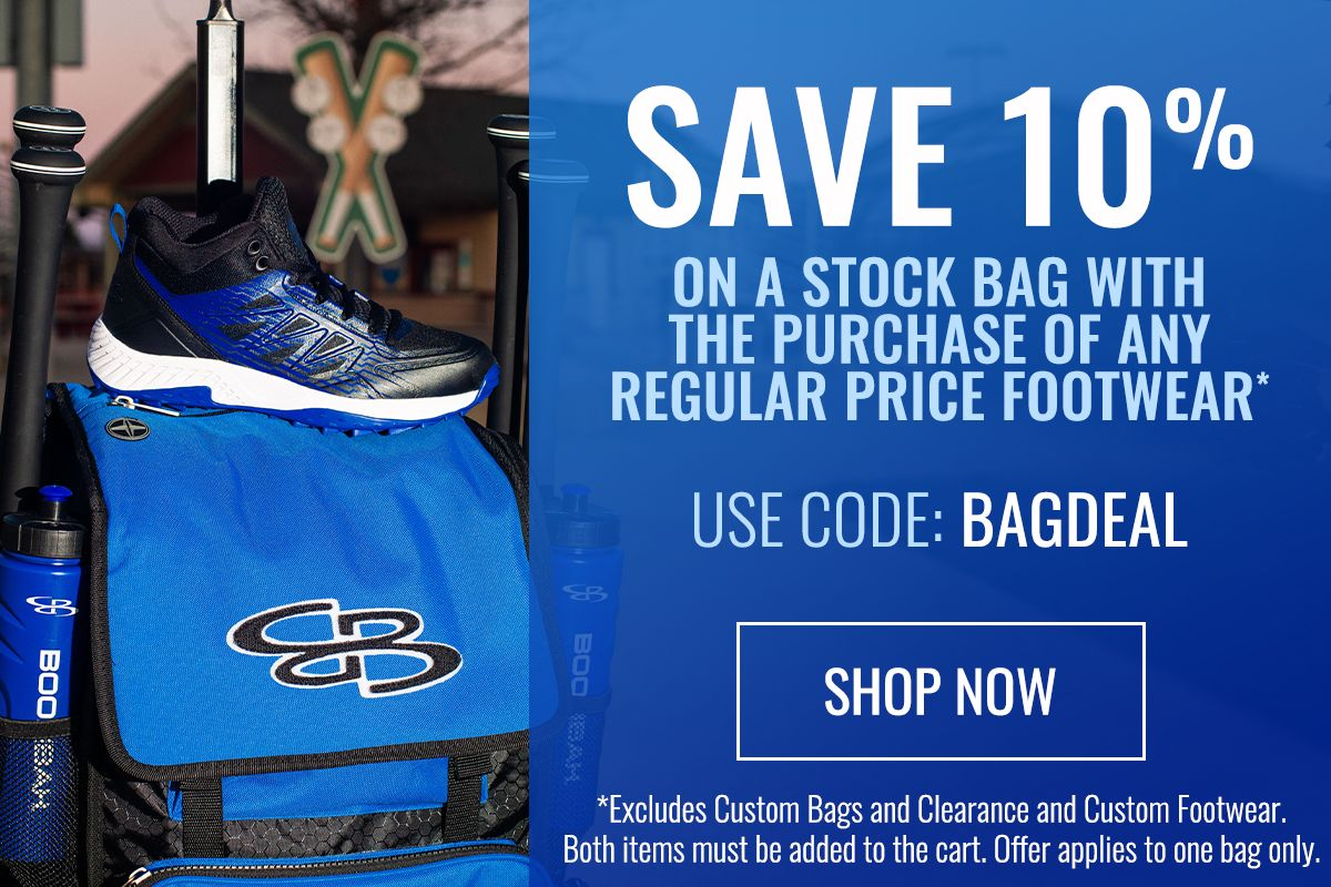 Save 10% on Stock Bags with Purchase of Footwear - Use Code BAGDEAL