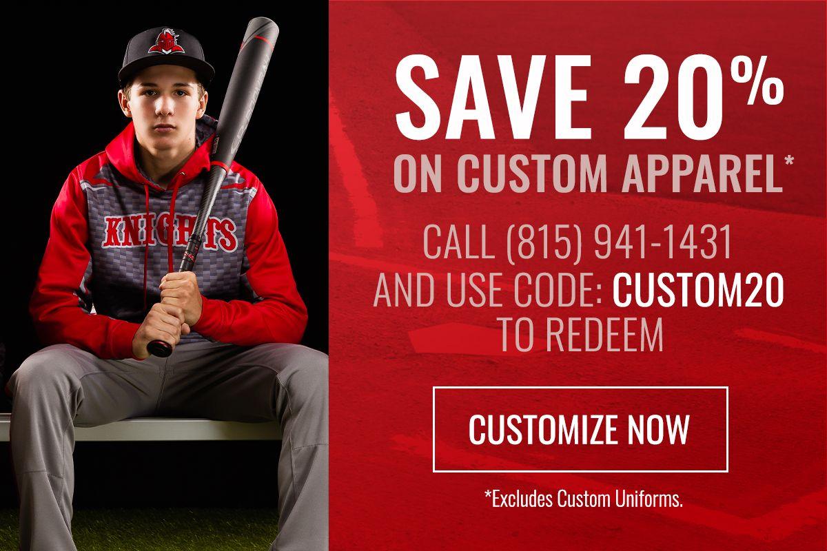 Save 20% on Custom Apparel - Use Code CUSTOM20