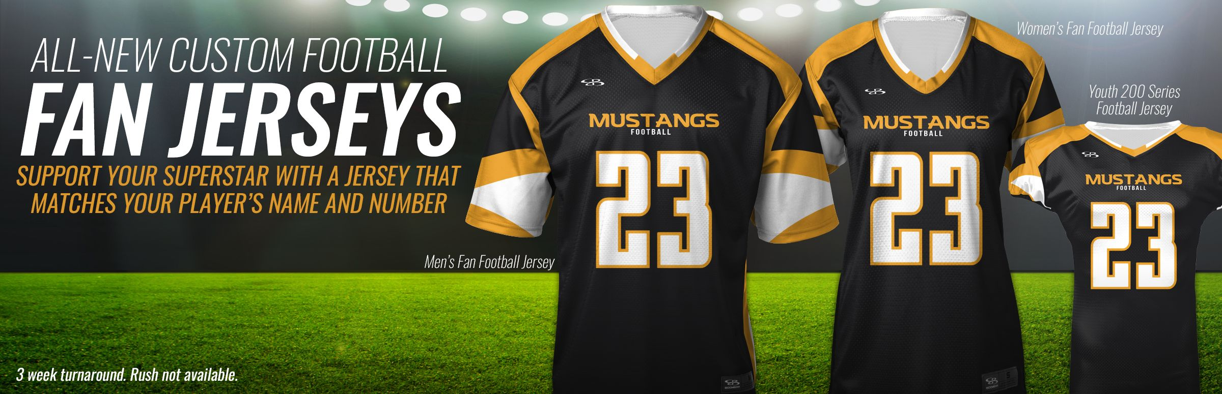 Boombah Custom Fan Football Jerseys