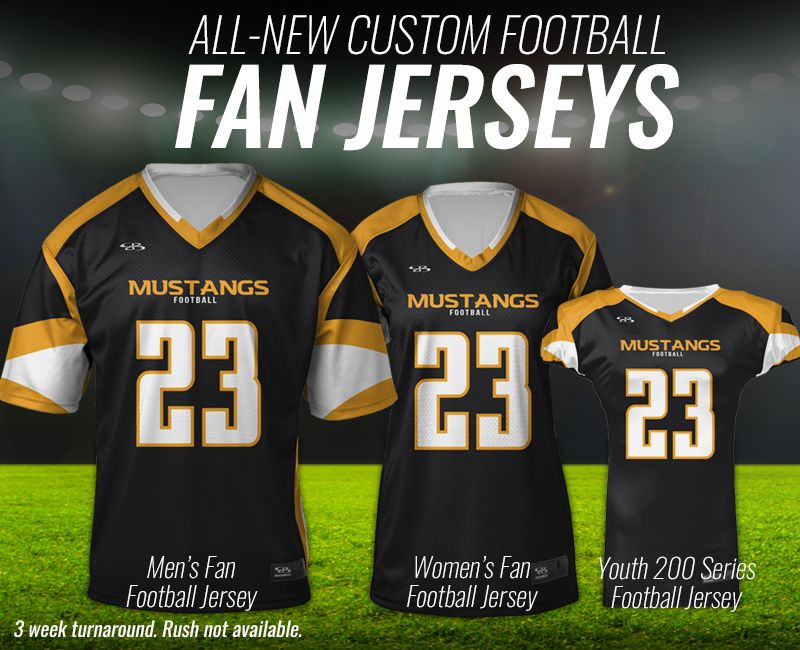 dddeba5f3 Boombah Custom Fan Football Jerseys Boombah Custom Fan Football Jerseys